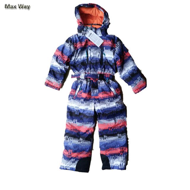 3-16Y Calorosamente Inverno Crianças Ternos Neve Marca Engrossar Jaquetas De Esqui Macacão para Meninos Adolescentes Meninas Do Bebê Crianças Roupas de Inverno Definida