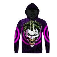 Batman Joker DC Comics 3D Print Hoodies Women Men Autumn Style Hooded Sweatshirts Homme Harley Quinn