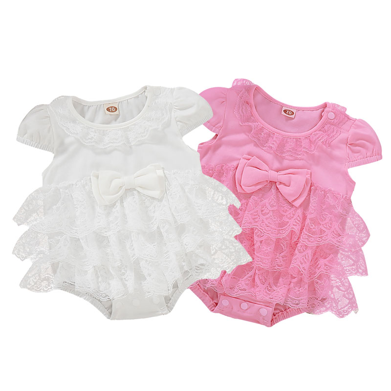 Infant Baby Girl Clothes Newborn Princess Tutu Bodysuit Playsuit Dress Romper