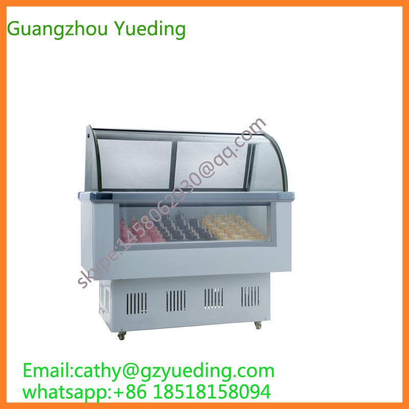 Green&Health Popsicles Display Freezer, Ice Lolly Freezer Showcase For Canteen Refrigeration Equipment Used Glass Door Freezer
