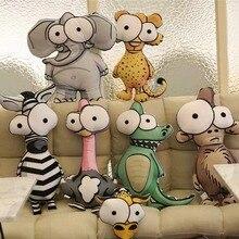 Plush Flamingo Pillow Cute Cartoon Stuffed Soft Animal Pilow &Cushion Elephant Crocodile Doll Baby Kids Toys Home Decor