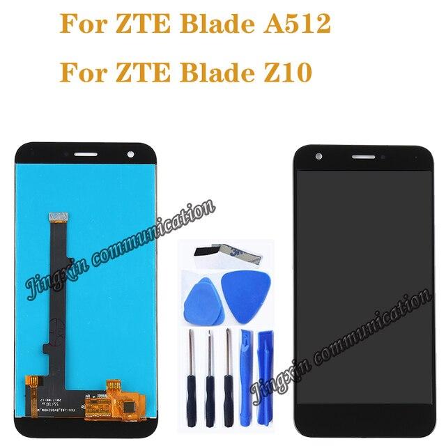Nuovo 5.2 per ZTE Lama A512 LCD full + touch screen digitizer componente di ricambio per ZTE Z10 DISPLAY nero /bianco