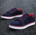 Sapatos masculinos de Lona 2017 Venda Quente Sólidos Esporte Estilo Confortável calçados Casuais Masculinos Outono Desgaste Ao Ar Livre Sapatos Casuais Apartamentos dos homens YF01