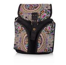 Новый цветочной вышивкой женские рюкзаки! Горячая старинные вышитые холщовый рюкзак моды фэшн национального покрытия рюкзак