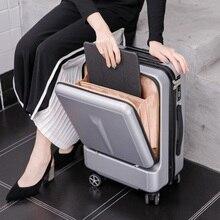 """Seyahat masalı Can kartı ön bilgisayar çantası yüksek kaliteli iş 20 """"24"""" haddeleme bagaj Spinner marka seyahat bavul"""