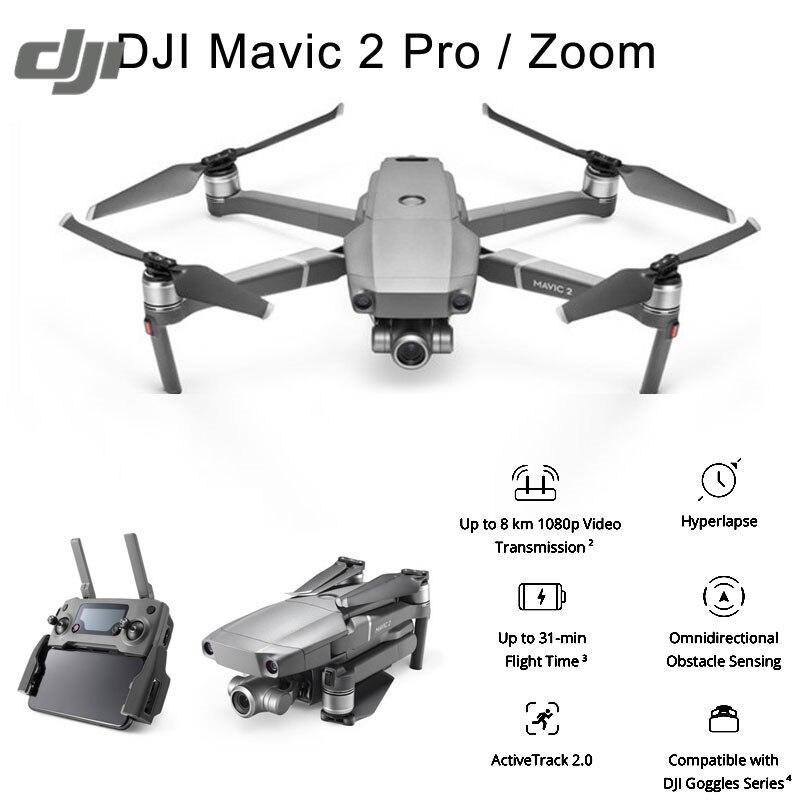 купить DJI Mavic 2 Pro / Zoom 8KM 1080P FPV w/ 3-Axis Gimbal Omnidirectional Obstacle 4K Camera RC Drone 31mins Flight Time недорого