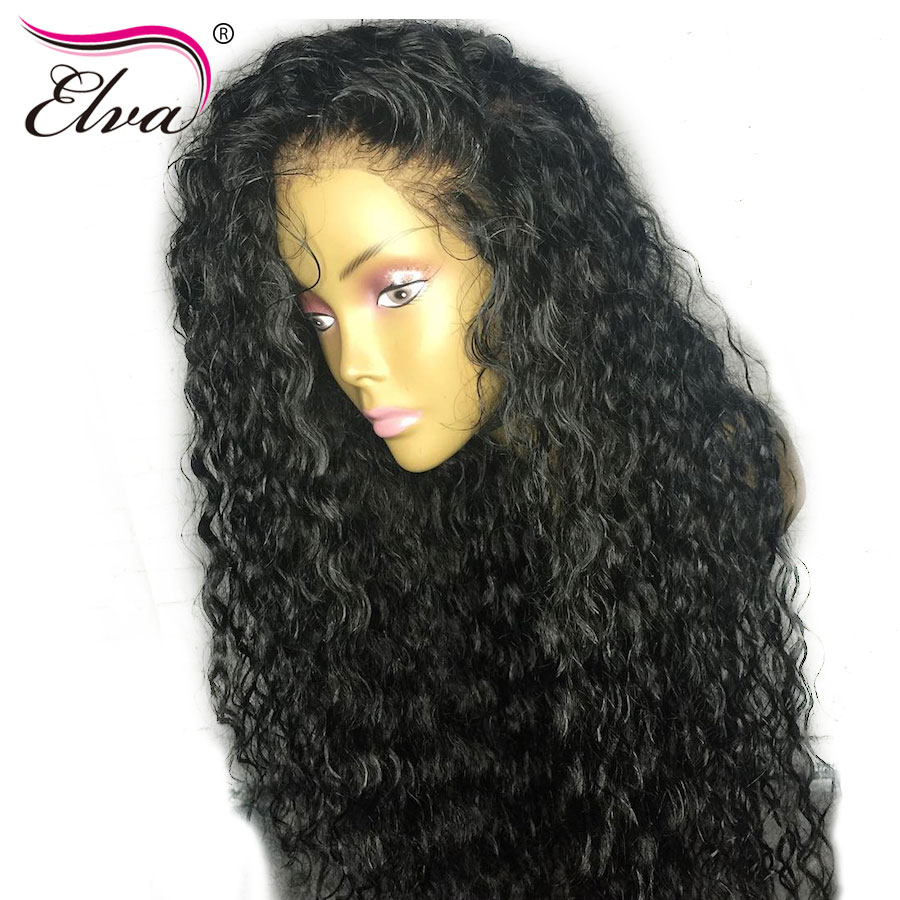 Elva Hair Full Lace Human Hair Wigs For Black Women Pre Plucked Natural Hairline With Baby Hair Brazilian Remy Hair Curly Wigs