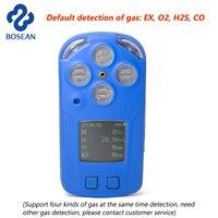 4 в 1 Multi Газовый Детектор горючий газ, кислорода O2, сероводорода H2S, CO газоанализатор монитор промышленных детектор утечки газа