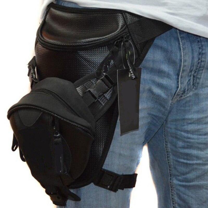 High Quality Microfiber Men Rider Leg Fanny Bag Hip Drop Travel Military Belt Waist Pack Trekking Motorcycle Assault Bum Bags