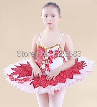 Free Shipping New 2014 High Quality Sky Blue Pink Red Yellow Stage Performance Child Girls Kids Ballet Tutu Ballet Costume