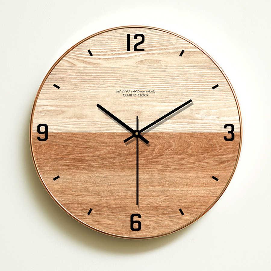 Reloj moderno Relojes de pared decoración del hogar Vintage diseño nórdico Stash Guesse Barbería para mujer klock 3d cocina grande 50Q098