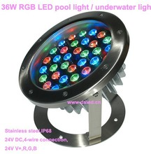 CE,IP68,36W RGB LED projector light,RGB LED wall washer,24VDC,DS-10-59-36W,Stainless steel SL304,2-Year warranty