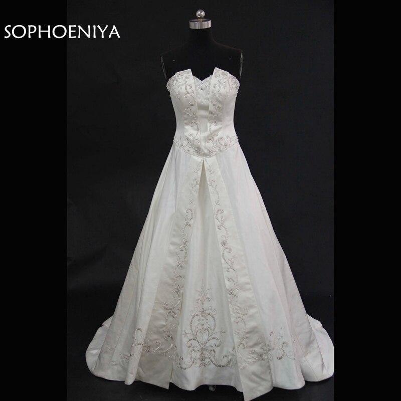 Fashion A-Line Wedding dresses 2019 Vestido de noiva Lace Beaded Bride Wedding dress bruidsjurken trouwjurk Wedding gowns