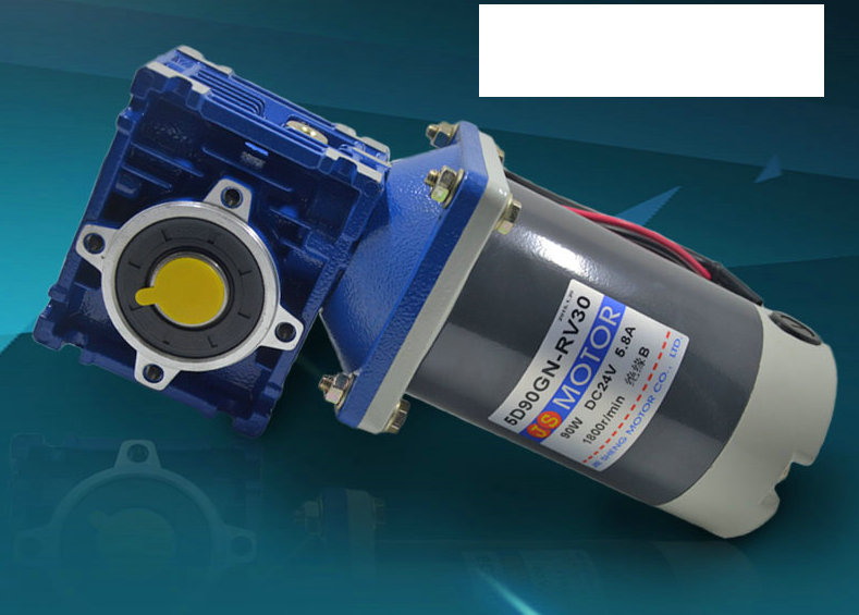 DC24V 90W Motor Speed  Adjustable Speed Motor Worm Gear Positive and Negative Speed Control NRV Gearmotor 18rpm-240rpm 10 50v 100a 5000w reversible dc motor speed controller pwm control soft start high quality