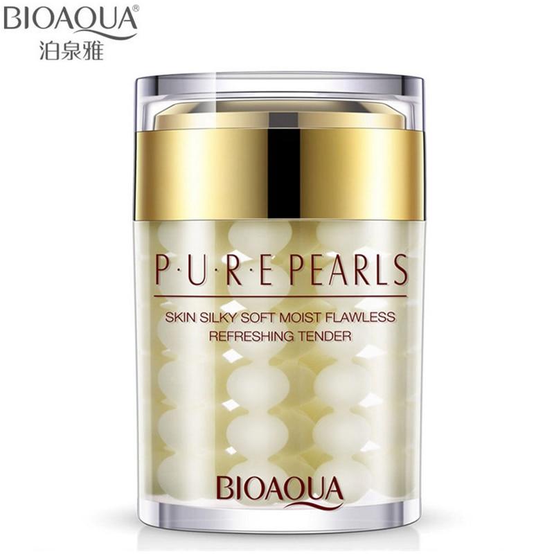 BIOAQUA Brand Face Cream Pure Pearl Essence Hyaluronic Acid Cream Moisturizing Skin Care Anti Wrinkle Whitening Cream Mask 60g