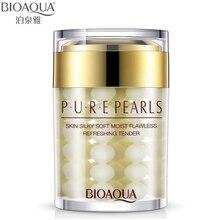 BIOAQUA Marca Crema Facial de Perla Pura Esencia Ácido Hialurónico Crema Hidratante Cuidado de La Piel Antiarrugas Blanqueamiento Máscara de Crema 60g