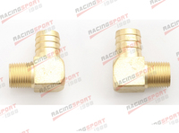 2 Pcs 1 Male 90 Elbow Brass Hose Barbs Barb To 1 2 NPT Pipe Male