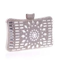 Kostenloser Versand frauen Kristall abendtasche Retro Beaded Clutch Hochzeit Diamant Perlen Tasche Strass Kleine Umhängetaschen