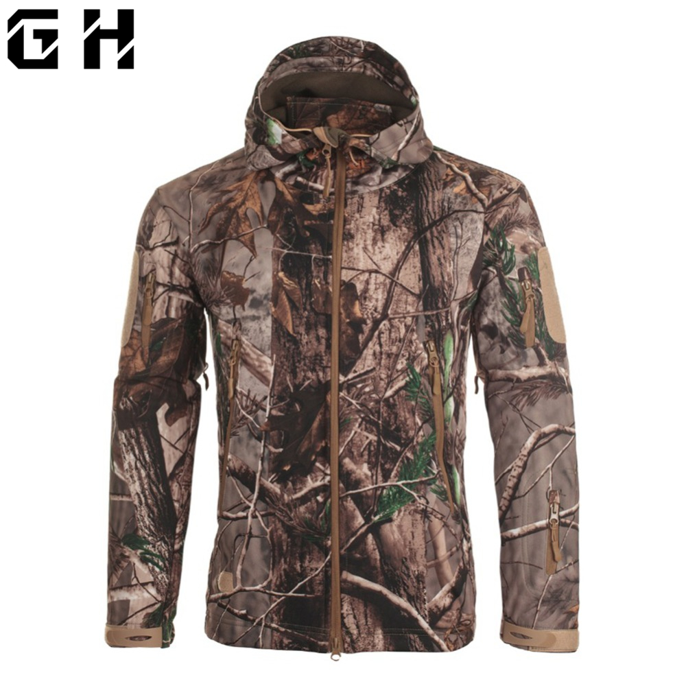 Dropshipping Lurker Shark Skin Softshell V5 Military Tactical Jacket Men Waterproof Coat Camouflage Hooded Army Camo Clothing(China)