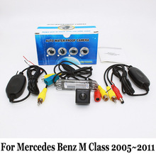 Câmera de Visão traseira Para Mercedes Benz Classe M W164 ML450 350 300 250/Original Tela Compatível com/Sem Fio Back Up Reversa câmera