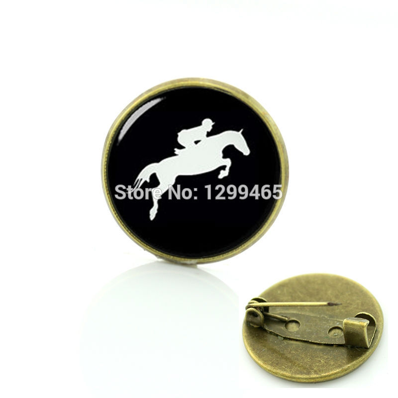 Brooches Novelty Horseback Riding Pins Sports Silhouette Equestrian Brooches Horse Race Rowing Scuba Diver Swimming Surfing Badge T783 Finely Processed Jewelry Sets & More