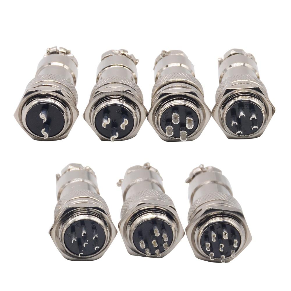 1 Set GX16-2/3/4/5/6/7/8/9/10 Pin Male Female 16mm Circular Connector Wire M16 GX16 Aviation Connector Socket Plug Metal