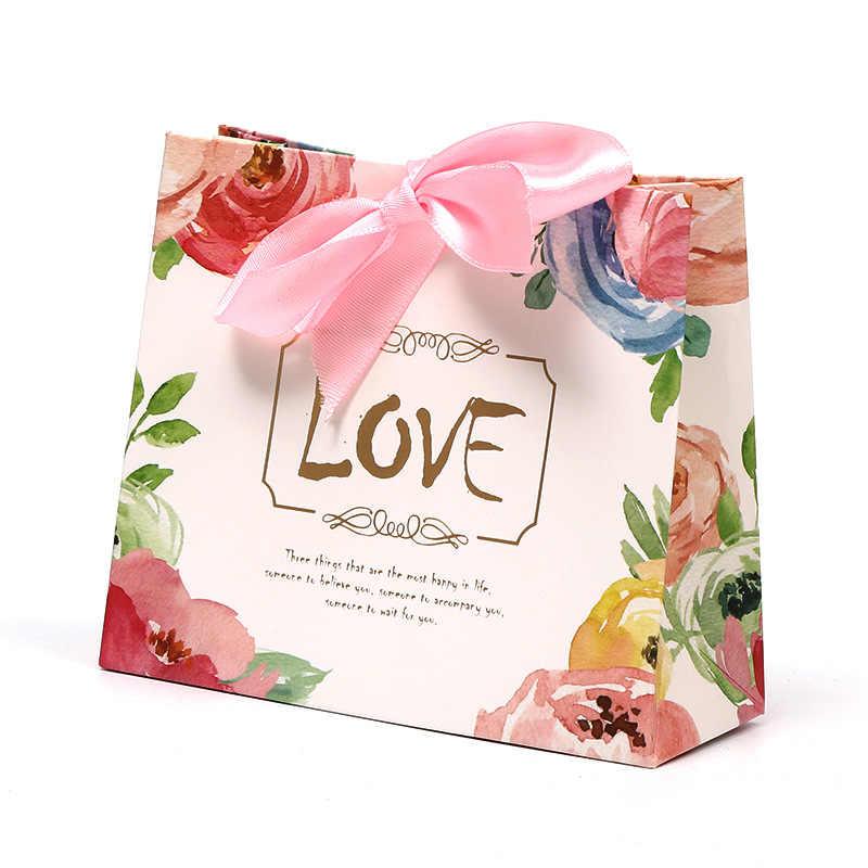5 шт. Европейский Famingos конфеты мешок французский Специальный из вас свадебный подарок коробка посылка день рождения любимые пакеты сумки Подарочная коробка