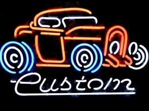 Custom Vintage Old Car Auto Glass Neon Light Sign Beer Bar