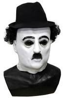Hollywood movie stars Halloween Costume Accessory Latex Charlie Chaplin Mask