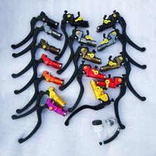 Universal CNC Multicolor motorcycle Cable Clutch Hydraulic brake clutch pump master cylinder handle For Yamaha Kawasaki Suzuki