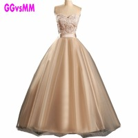 Vintage Lace Champagne Quinceanera Dresses Sweetheart Satin Sash Tulle Prom Gown Custom Made