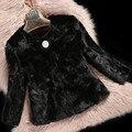 2016 Genuine Real Piece Mink Fur Jacket Coat Autumn Winter Women Fur Short Outerwear Coats 3XL VK1504