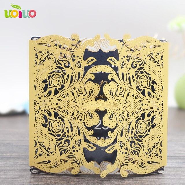 10 Sets Handgemachte Luxuriöse Hochzeit Dekoration Einladungskarten 3d  Druck Luxuriöse Pop Up Hochzeitseinladungskarte