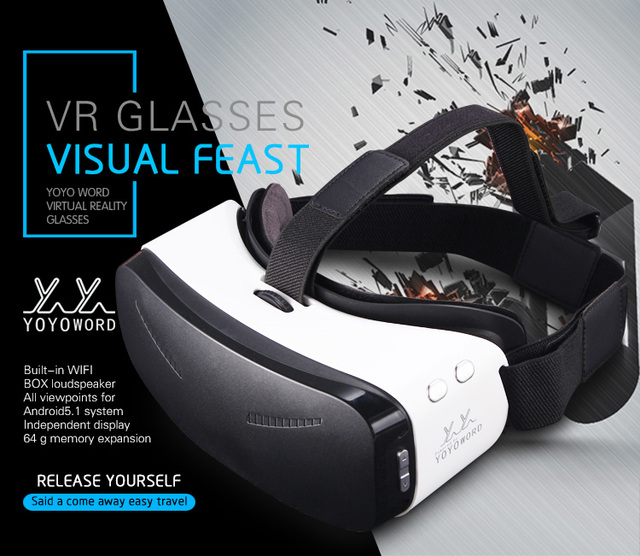 2016 Новый VR Все в Одном Android 5.1 ПРОЦЕССОР RK3288 5.5 дюймов FOV93 с HDMI и 3D СТЕРЕО Громкоговоритель 3D VR Виртуальная Реальность VR гарнитура
