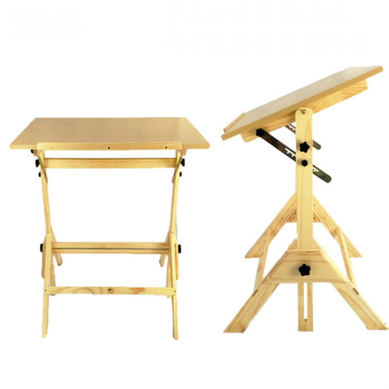 Pine Import Easel Student drawing table drawing board professional engineering drawing table lifting tilting easel CAD table