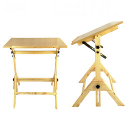 Pine Import Easel Student drawing table drawing board professional engineering drawing table lifting tilting easel CAD