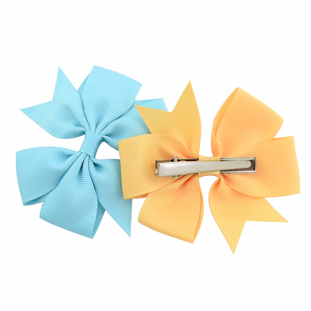1 pcs Colors Solid Grosgrain Ribbon Bows Clips Hairpin Girl's hair bows Boutique Hair Clip Headware Kids Hair Accessories 564
