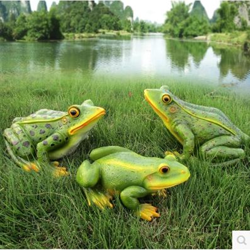 Frog crafts, garden decorations, creative animal models, home decorations