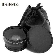 58mm 0.45x Wide Angle & Macro Conversion Lens + Front  Rear Cap for canon 500d 550d 600d 700d 750d 1000d 1200d 1300d 18 55 lens