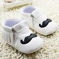 1 Пара Отправить Кожаный Детские Мокасины Кисточкой Обувь Первые Ходоки Против скольжения Обувь Новорожденных Малышей Скольжения на Мягкой обувь