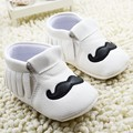 1 Pair Send Leather Baby Moccasins Tassel Shoes First Walkers Anti-slip Footwear Newborn Toddler Slip-on Soft Shoes