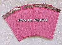 165*230mm En Plastique Poly Bubble Mailer Postale Matelassée Sacs Rose Rembourrage Antichoc Bulle Enveloppe de Courrier Etuis 50 pcs