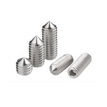 304 stainless steel headless hex socket tip set screw machine screw tip top wire M10M12M16*10 12 16 20 25 30 35 40 45 50 60(China)
