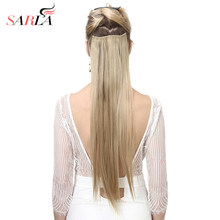 "SARLA 22"" 140g Long Straight Synthetic Clip in Hair Extensions Set For Hair Flase Hair Extension Clip Hair On Clips(China)"