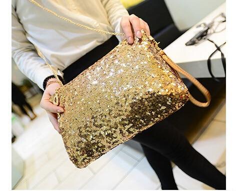 3 шт. самых популярных американских и европейских пайетки Стиль Дизайн Для женщин Курьерские сумки Сумка 26x2x18 см
