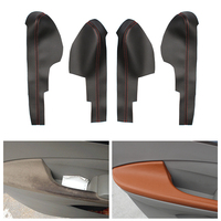 4pcs Car Microfiber Leather Interior Door Armrest Panel Cover Protective Trim For Honda City 2008 2009 2010 2011 2012 2013 2014