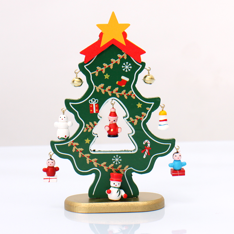 Mini artificial wooden christmas tree crafts xmas for Decoration de maison pour noel