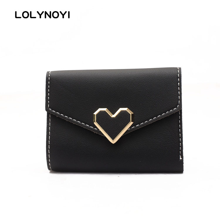 LOLYNOYI New Arrival Fashion Women Mini Wallets Small Wallet Purse Short Design Three Fold Card Holder Change Purse leeshang marvel captain america bi fold wallet dft 1007a for dft 1995 fold mini small wallet