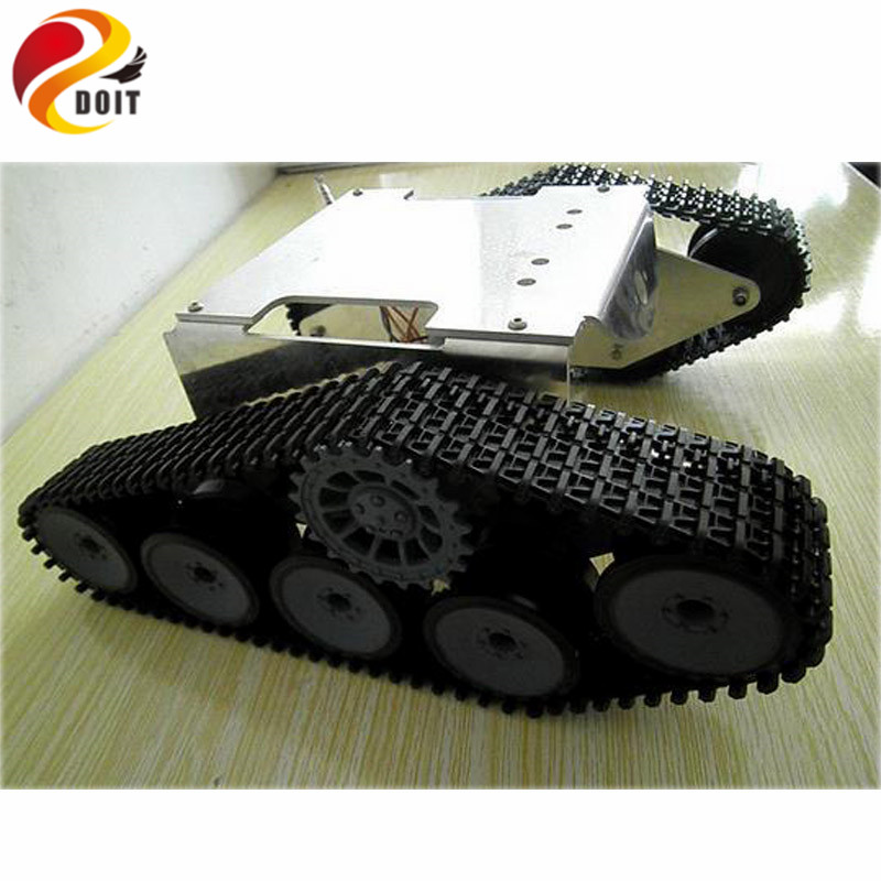 Official DOIT Wall-e Tank Smart Car Chassis/ Tracked Cars/ High Torque Motors and Steel Structure/Remote Control Smart Car Parts official doit wall e tank smart car chassis tracked cars high torque motors and steel structure remote control smart car parts