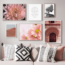Morocco Desert Door Flower Quote Abstract Wall Art Canvas Painting Nordic Posters And Prints Pictures For Living Room Decor